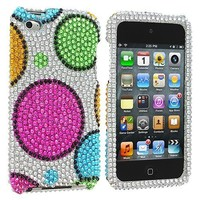 The Friendly Swede (TM) Colorful Circles Bling Diamond Hard Case for Apple iPod Touch iTouch 4, 4G (4th Generation) - Removal Tool & Microfiber Cloth