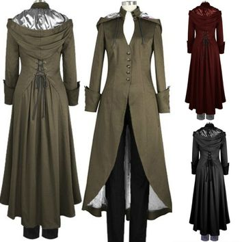 Victorian Double Cape Coat with Hood