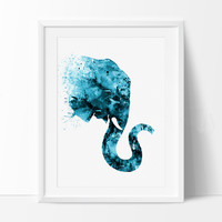 Elephant Watercolor Art Print, Watercolor Art, Elephant Print, Elephant Watercolor Wall Decor, Elephant Art Poster (118)