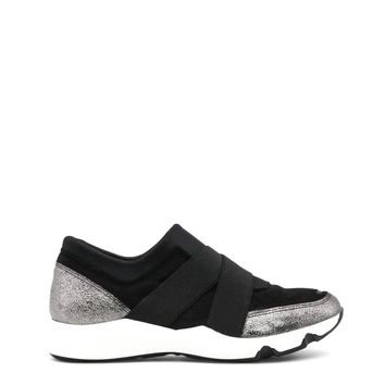 Ana Lublin Black Round Toe Sneakers