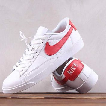 DCCK N172 Nike Blazer Leather Causal Skate Shoes White Red