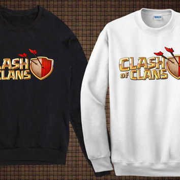 clash of clan logo sweater clash of clan sweatshirt fit for you and your children