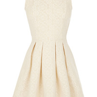 CREAM BONDED DAISY LACE FULL DRESS