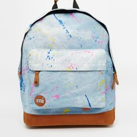 Mi-Pac Backpack in Denim with Paint Splatter Print