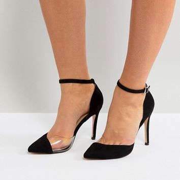 Truffle Collection Wide Fit Vinyl Court Shoe at asos.com