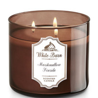 Marshmallow Fireside 3-Wick Candle - White Barn | Bath And Body Works