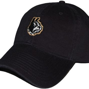 Wofford Needlepoint Hat in Black by Smathers & Branson