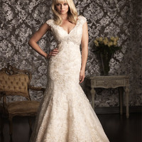 Vestido de noiva 2016 new style lace mermaid wedding dresses backless lace flowers bride gowns custom made plus size