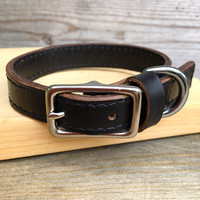 Horween Topstitched Dog Collar