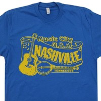 Nashville T Shirt Vintage Country Music T Shirt Vintage Bluegrass T Shirt Banjo Tee