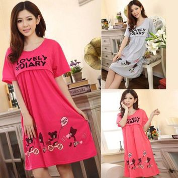 LMFUNT 2015 Pregnant Women Cute Bear Lactation Nursing Clothes Maternity Dresses