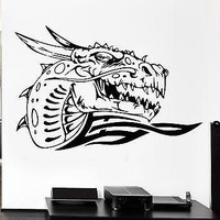 Wall Decal Dragon Fire Mythology Movie Fantasy Monster Cool Interior Unique Gift (z2707)