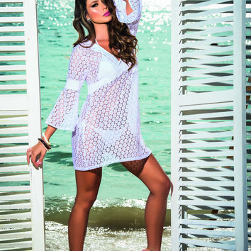 White Beach Dress Swimsuit Coverup