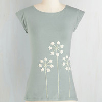 Boho Mid-length Short Sleeves Reach Fleur the Stars Top