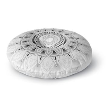 Kavka Designs Mandala Black And White Black/White Floor Pillow | Overstock.com Shopping - The Best Deals on Throw Pillows