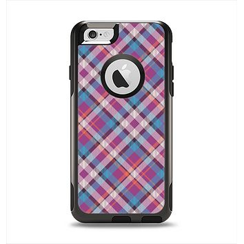 The Striped Vintage Pink & Blue Plaid Apple iPhone 6 Otterbox Commuter Case Skin Set