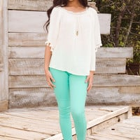 Stand Out Skinny Jeans - Mint