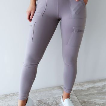 Strive For Progress Pants: Dusty Lilac