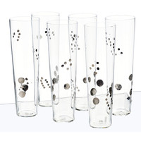 Platinum Berry Champagne Glass Set- DISCONTINUED