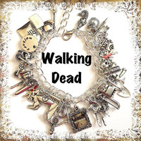 WALKING DEAD Zombie Hunter Charm Bracelet by princessofscraps