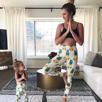 Pineapple Stretch Yoga Pants