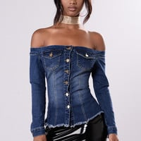 Hot Or Cold Top - Dark Wash
