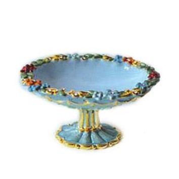 Enameled Blue Le Fruit Bowl Ring Dish Figurine