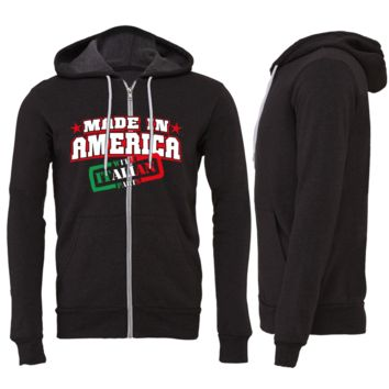 Made in America With Italian Parts Zipper Hoodie