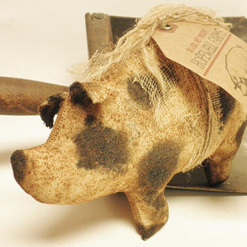Primitive Pig - Made To Order, Country Farmhouse Decor, Decorative Pigs, Barnyard Animals, Primitive Animals