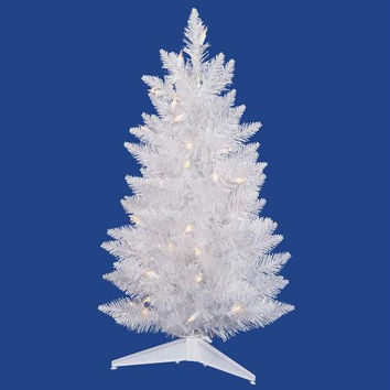 Artificial Christmas Tree - 2.5 Ft. - 100 White And Iridescent Tips