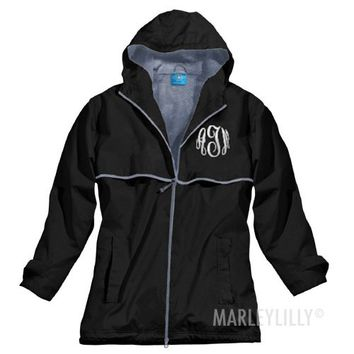 Monogrammed New England Rain Jacket | Marley Lilly