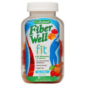 Vitafusion Fiber Well Fit 5g Gummies Peach, Strawberry & Berry | Walgreens