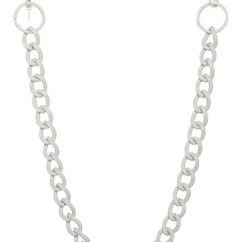 Linked Up Steel Body Chain - White