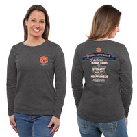 Auburn Tigers Ladies Tigers Give Back Long Sleeve Classic Fit T-Shirt - Charcoal