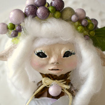 Fairy Sculpture - Fairy Doll - OOAK Fairy Doll - Pixie Sculpture - Polymer Clay Sculpture - Sculpted Doll - Sculpted Fairy - OOAK Doll