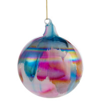 "4"" Glass Marble Ornaments, Set of 3, Ornaments"