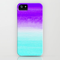 WHEN PURPLE MET BLUE iPhone & iPod Case by Rebecca Allen