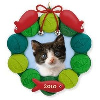 Pretty Kitty Photo Holder 2010 Hallmark Ornament by Hallmark Keepsakes