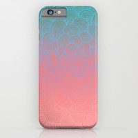 Ombre Clam Shells - Mint, Peach, Purple and Pink iPhone & iPod Case by Micklyn