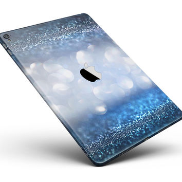 "Royal Blue and Silver Glowing Orbs of Light Full Body Skin for the iPad Pro (12.9"" or 9.7"" available)"