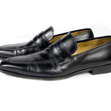 Magnanni Black Spanish Leather Loafers Mens 12 M EU 46