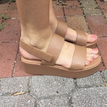 Platform Galore Sandal- Tan