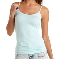 Blue Light Seamless Spaghetti Strap Cami by Charlotte Russe