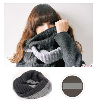 Dual Chunky Knit Snood