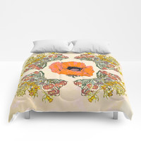 The Universal language of flowers Comforters by anipani
