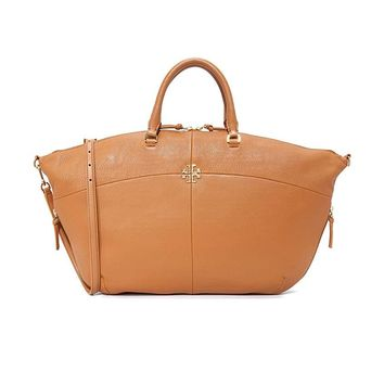 Tory Burch Ivy Slouchy Leather Satchel Bag, Large