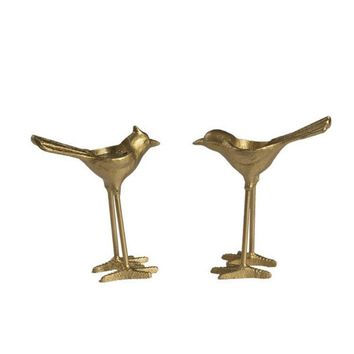 Heavy Brass Bird Tea Light Candle Holders