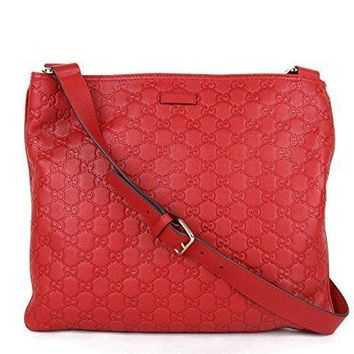 Gucci Women's Red Guccissima Leather Crossbody Messenger Bag 201446 6523 #35101 - Best Deal Online