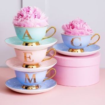 Colourful China Letter Cups