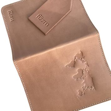 "Raw Leather ""World Cup"" Passport Holder by Fizzm"
